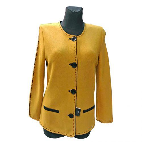 Klasikinis moteriškas megztinis ASTR28_gelt