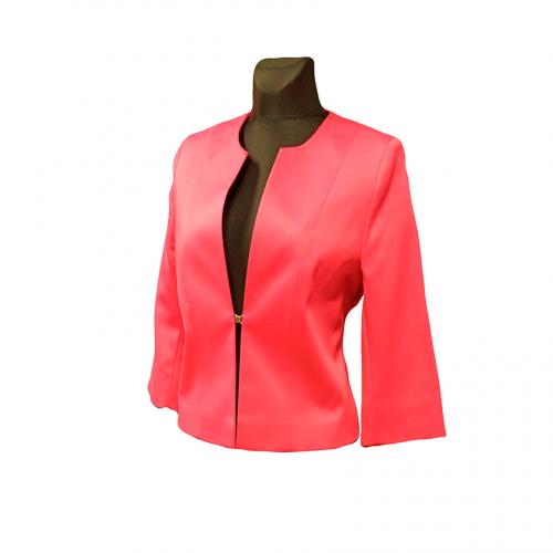 Raudonas moteriškas švarkelis prie suknelės CLR2