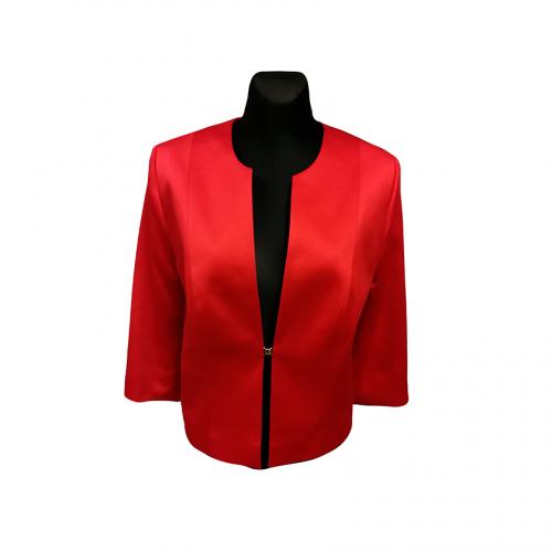 Klasikinis raudonas moteriškas švarkas CLR3