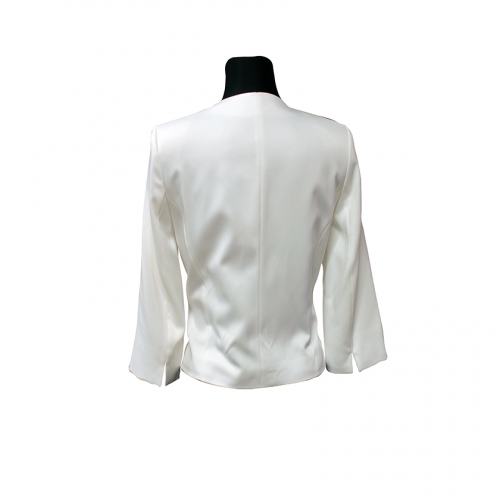 Klasikinis baltas moteriškas švarkas CLR4