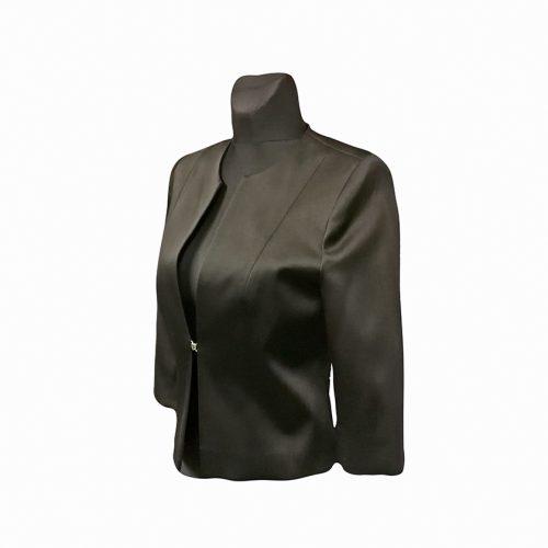 Klasikinis juodas moteriškas švarkas CLR5