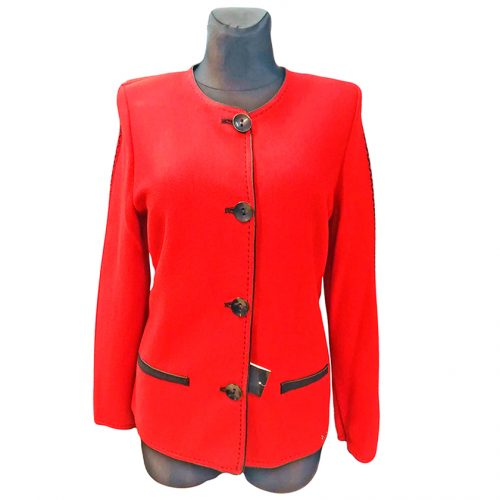 Raudonas moteriškas megztinis ASTR28