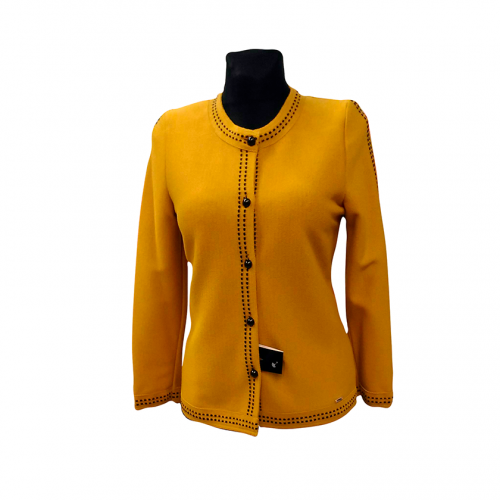 Geltonas megztinis ilgomis rankovėmis ASTR11