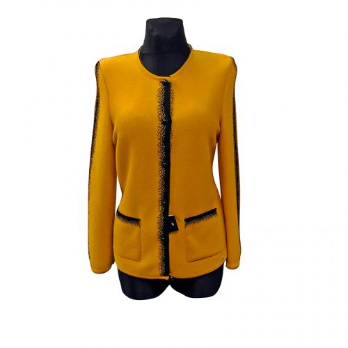 Klasikinis geltonas megztinis moterims ASTR6