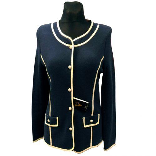 Tamsiai mėlynas moteriškas megztinis ASTR4