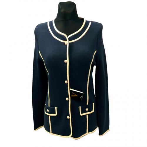 Tamsiai mėlynas moteriškas megztinis ASTR9