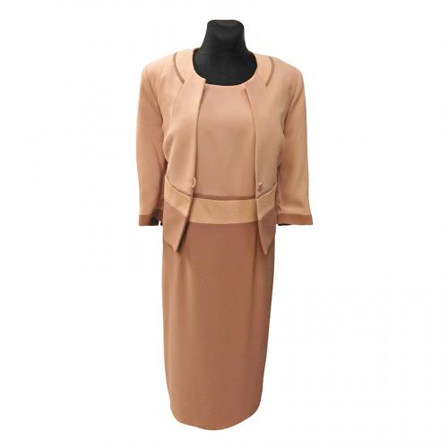 Smėlio spalvos moteriškas kostiumas ELIS1