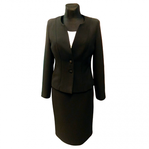 Juodas klasikinis moteriškas kostiumas KRLX1