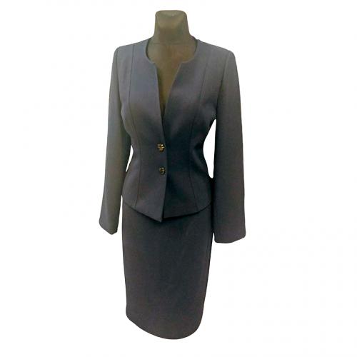 Klasikinis mėlynas moteriškas kostiumas KRLX6