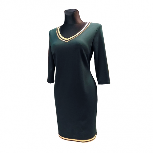 Žalia vienspalvė suknelė EDM_zal