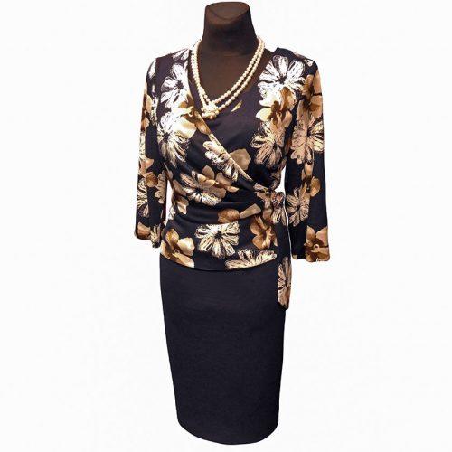 Kombinuota gėlėta suknelė LCR