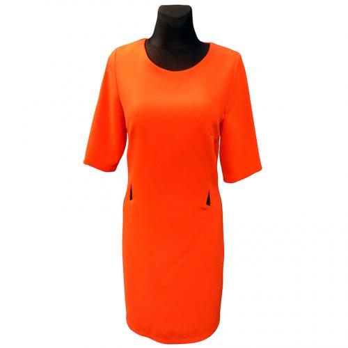 Klasikinė ryški oranžinė suknelė RXNA_orng