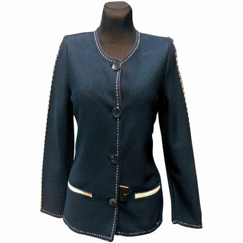 Klasikinis mėlynas megztinis moterims Astr28