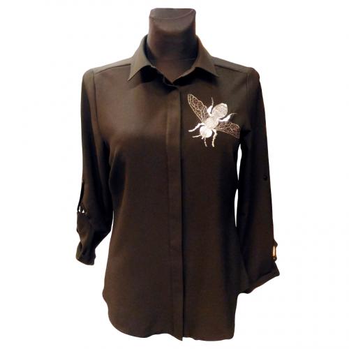 Klasikiniai juodi moteriški marškiniai KMA2 juod