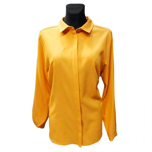 Klasikiniai geltoni moteriški marškiniai KMA9