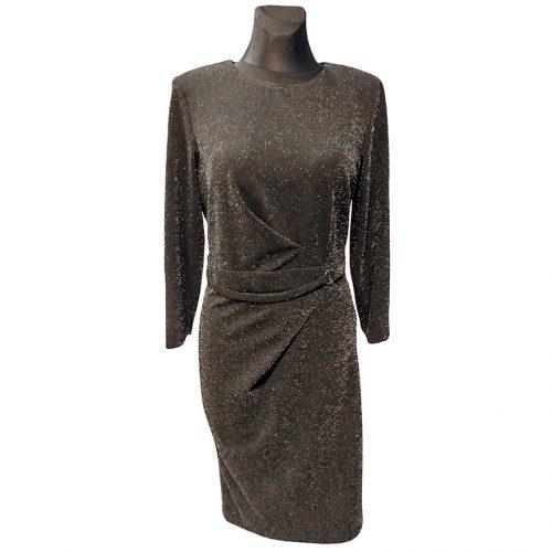 Juoda blizgi suknelė su pamušalu Lcr juod