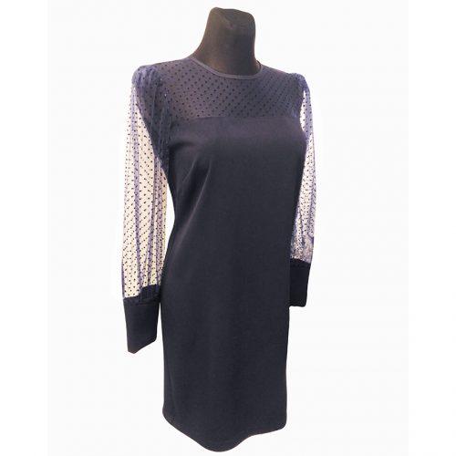 Puošni mėlyna trumpa suknelė MRCLA