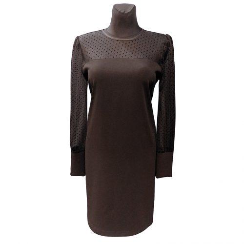 Puošni juoda trumpa suknelė MRCLA