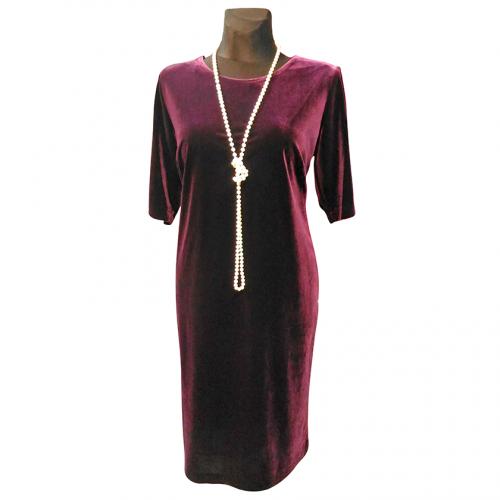 Klasikinė veliūrinė suknelė OMGA1
