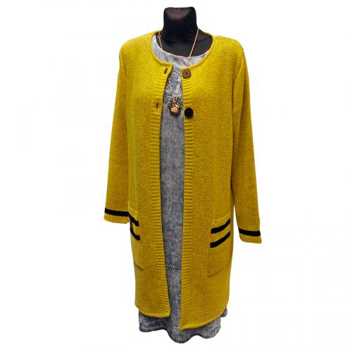 Ilgas megztinis-švarkelis su kišenėmis Artima2