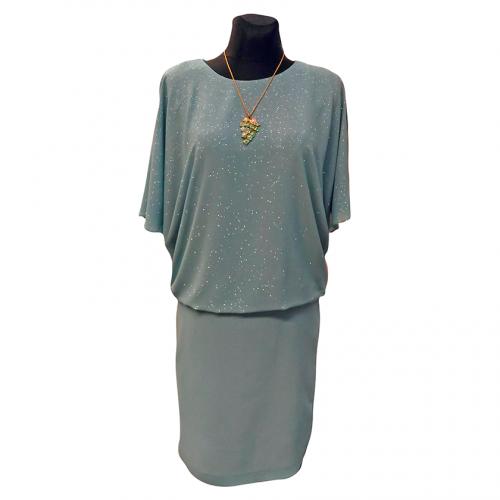 Puošni žalia suknelė OMGA