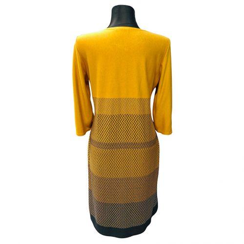Kasdienė geltona suknelė žemiau kelių ZRIA03