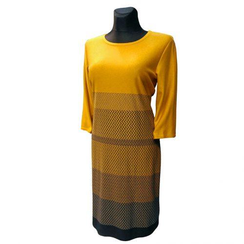 Kasdienė geltona suknelė