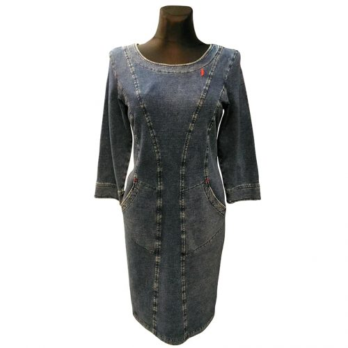 Džinsinė suknelė žemiau kelių AJS jns1