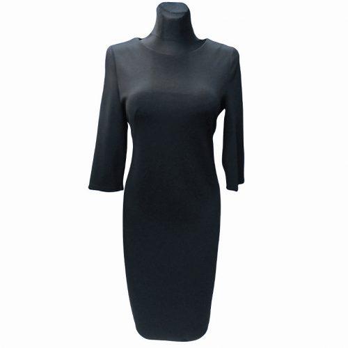 Juoda klasikinė suknelė žemiau kelių CLR BL