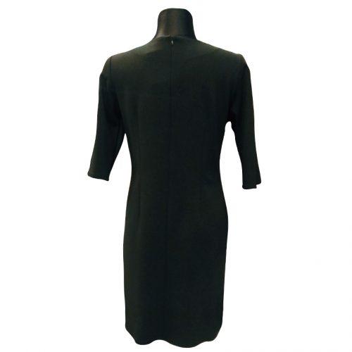 Juoda klasikinė suknelė žemiau kelių Nata BL