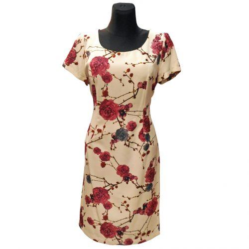 Gėlėta suknelė Karlex trumpomis rankovėmis