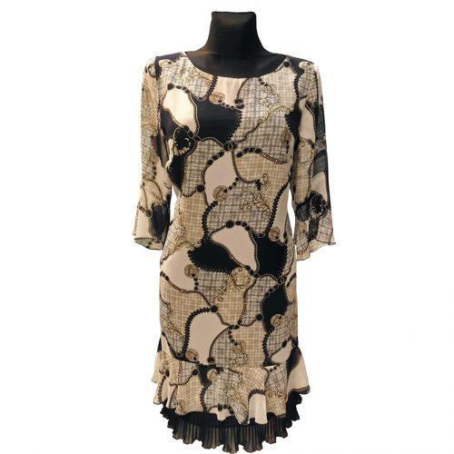 Plono audinio suknelė su pamušalu Lcr 3