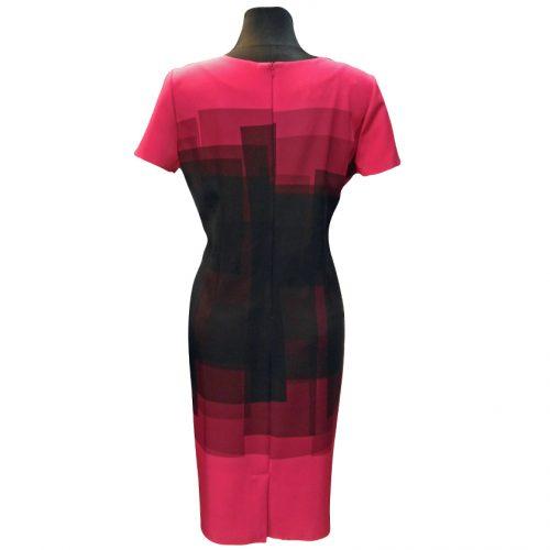 Puošni ryškios spalvos suknelė CLR ROZ