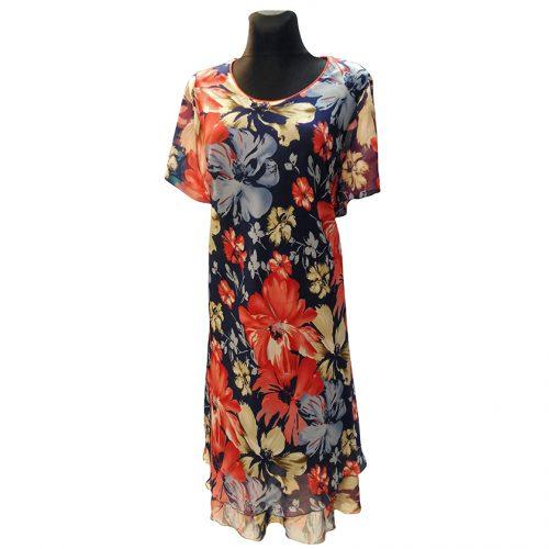 Lengvo audinio suknelė žemiau kelių Exclusive