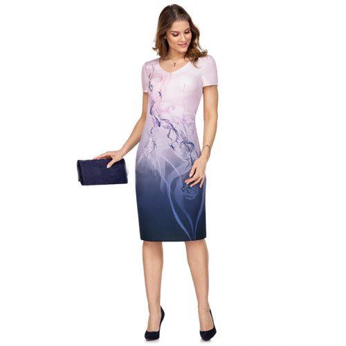 Klasikinė suknelė trumpomis rankovėmis Clr 6