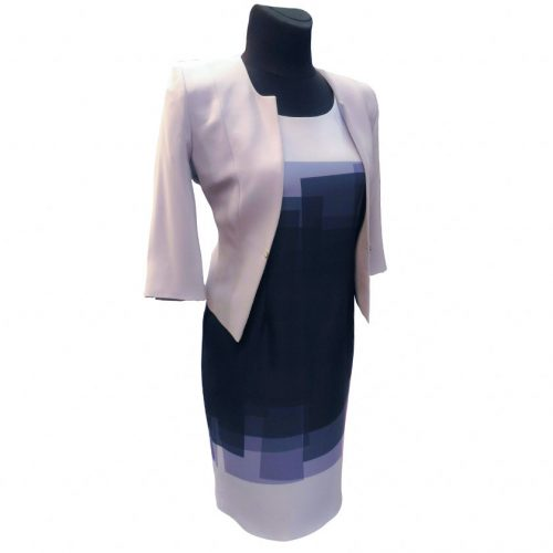Klasikinė puošni žydra suknelė Clr blue