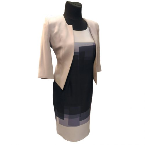 Klasikinė puošni žydra suknelė Clr blu