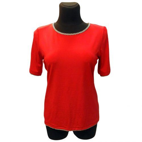 Raudona palaidinė trumpomis rankovėmis Mgwa R
