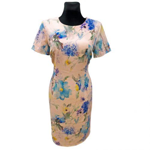 Klasikinė šviesi suknelė be pamušalo Katom