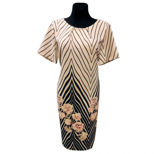 Klasikinė gėlėta suknelė žemiau kelių Antall fl