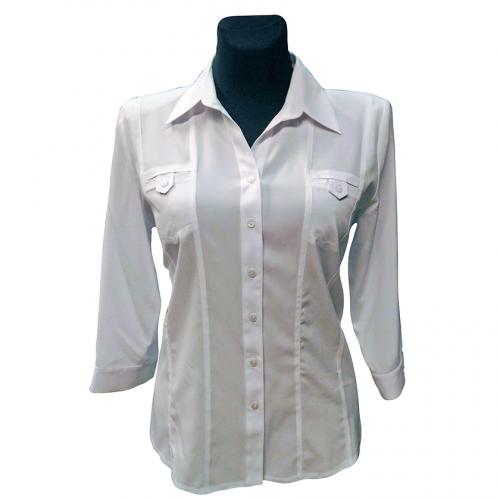 Balti moteriški marškiniai Bikkar