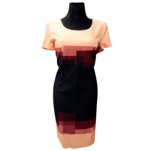 Klasikinė puošni rausva suknelė Clr raus