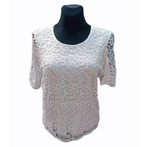 Tamprūs balti marškinėliai moterims MONIKA wh