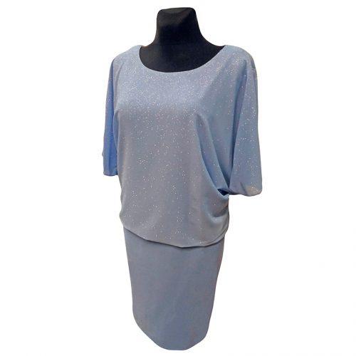 Puošni žydra suknelė OMGA blu