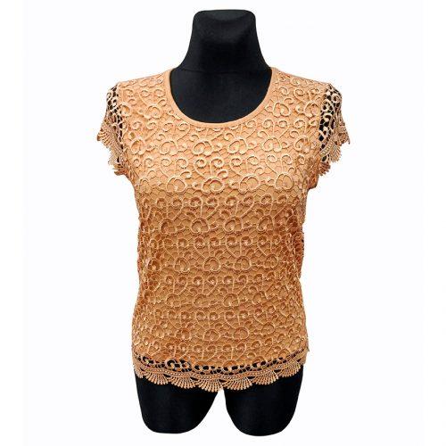 Smėlio spalvos moteriški marškinėliai Rmax smel