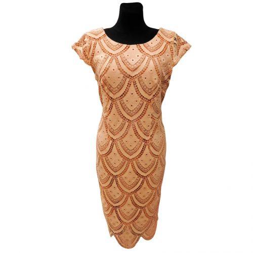 Šventinė suknelė su nėriniais Dagon