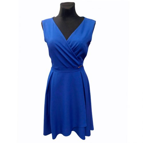 Puošni neilga ryškiai mėlyna suknelė Antall mel