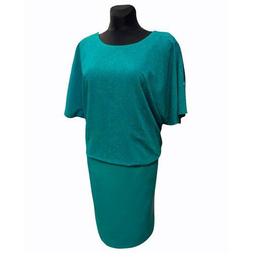 Puošni žalia suknelė OMGA zal N
