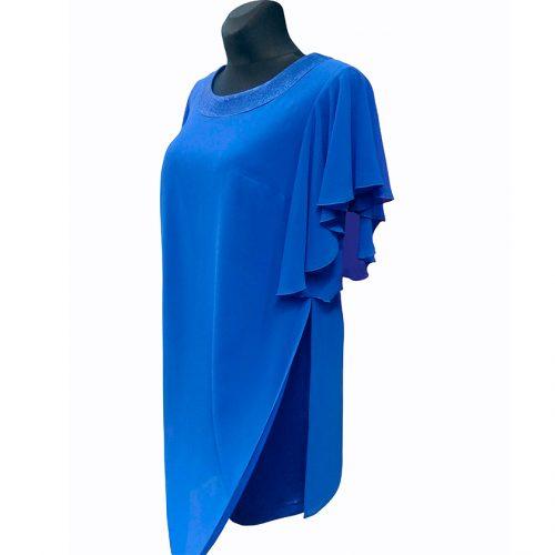Ryškiai mėlyna puošni suknelė Sepia