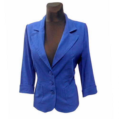 Mėlynas klasikinis moteriškas švarkas Anna mel